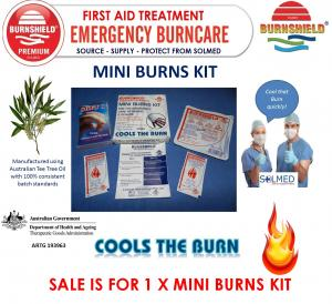 BURNSHIELD HYDROGEL BURNS GEL MINI BURNS KIT