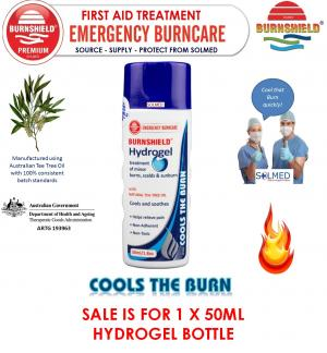 BURNSHIELD 50ML HYDROGEL BURNS TREATMENT