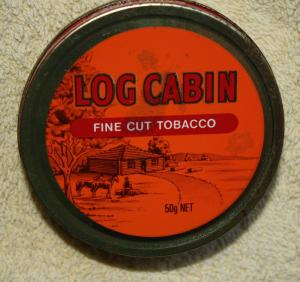 LOG CABIN TIN 50g Net EMPTY