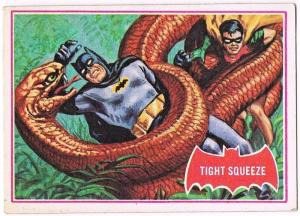 SCANLENS 1966 BATMAN RED BAT CARD 24A TIGHT SQUEE