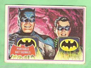 SCANLENS 1966 BATMAN RED BAT CARD 16A PORTABL
