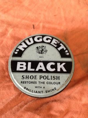 Black Nugget Shoe Polish Tin