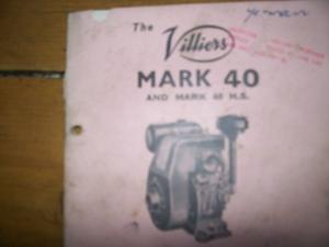 Villers MK 40 stationary engine operating manual