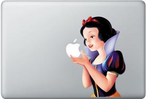 Snow White Apple MacBook Decal skin Air/Pro13