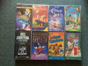 Bulk Lot of VHS Tapes