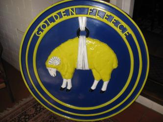 GOLDEN FLEECE RAM Sheep Hanging Wall Plaque Large