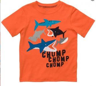 CARTER'S BOYS SHARK GRAPHIC TEE