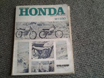 Honda MT 250 service manual