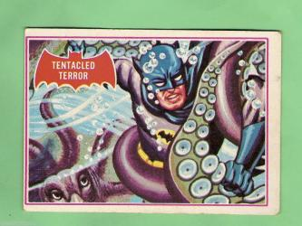 SCANLENS 1966 BATMAN RED BAT CARD 8A TENTACLED TE