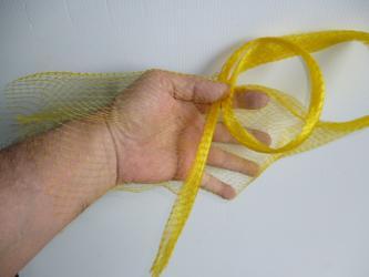 5 meters Onion bag mesh / tube YELLOW