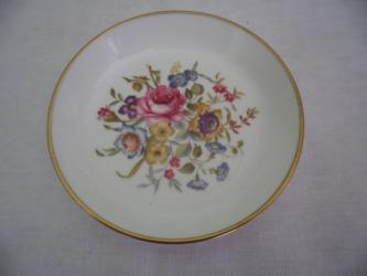 Royal Worcester china small floral pin dish plate bowl made in England