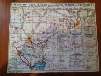 1850's Victorian Goldfields Map