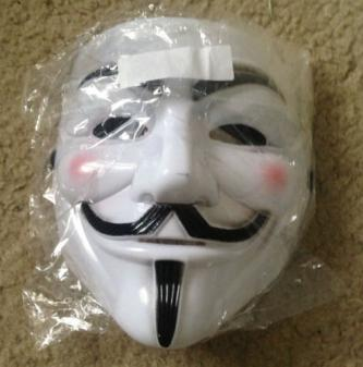 Brand New V for Vendetta Anonymous White Costume Mask x1
