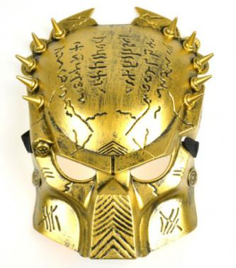 Brand New Gold Predator Costume Mask