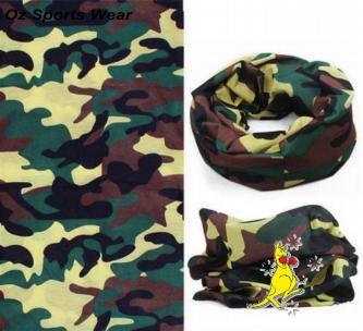 1x Camo Fishing Head/Face/Mask/Neck Tube Buff SPF 50+ Head Buff-HB