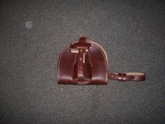 Light horse WWI Leather Horseshoe Case