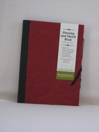 Drawing & Sketch Book: A5 Portrait - Red