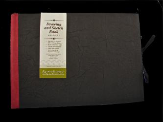 Drawing & Sketch Book: A4 Landscape - Black