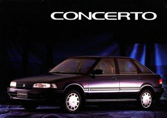 Honda Concerto 1991 Single Page Double Sided Sales Brochure