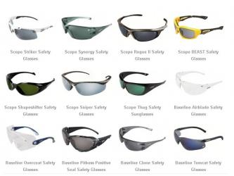 10 Pairs of Scope Safety Glasses - Lucky Dip - min RRP $200+
