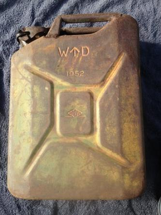 1952 Vintage Military Jerry Can Original