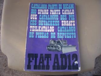 Fiat AD 12 dozer spare parts manual