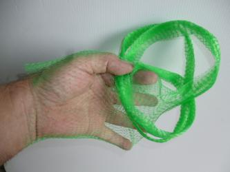 5 meters Onion bag mesh / tube GREEN