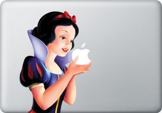 Snow White Apple MacBook Decal skin Air/Pro13
