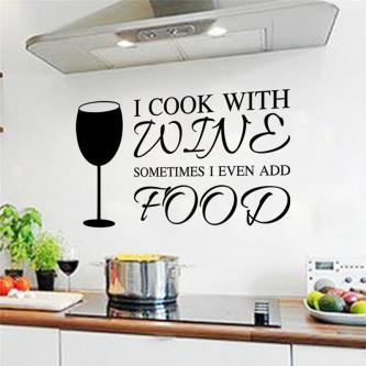 Wineglass Kitchen Wall Sticker