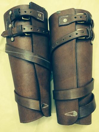 Australian Light WWI Leather Leggings - (Reproduction