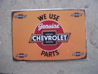 Chevrolet Vintage style Metal Tin Sign