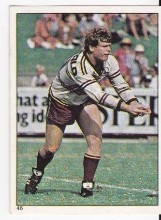 Scanlens 1984 Rugby League sticker #46 PAUL VAUTIN - MANLY