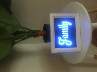 "A5 Size Night Light, Stand Alone Picture Frame ""FAMILY"" Light Box"