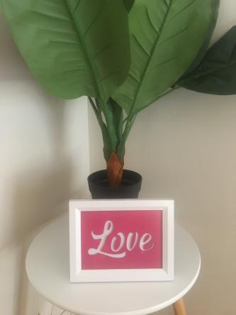 "A5 Size Night Light, Stand Alone Picture Frame ""LOVE"" Light Box"