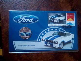 Ford classics Aust post stamp and coin cover PNC 1978 falcon cobra