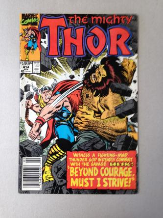 The Mighty Thor Comic Issue 414 February 1990