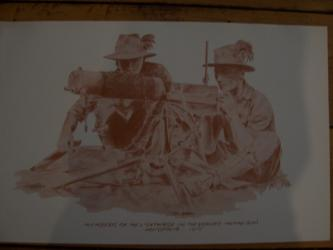 Members of the Lighthorse on a vickers machine gun