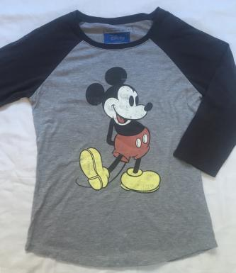Mickey Mouse 3/4 Sleeve Tee - Size L