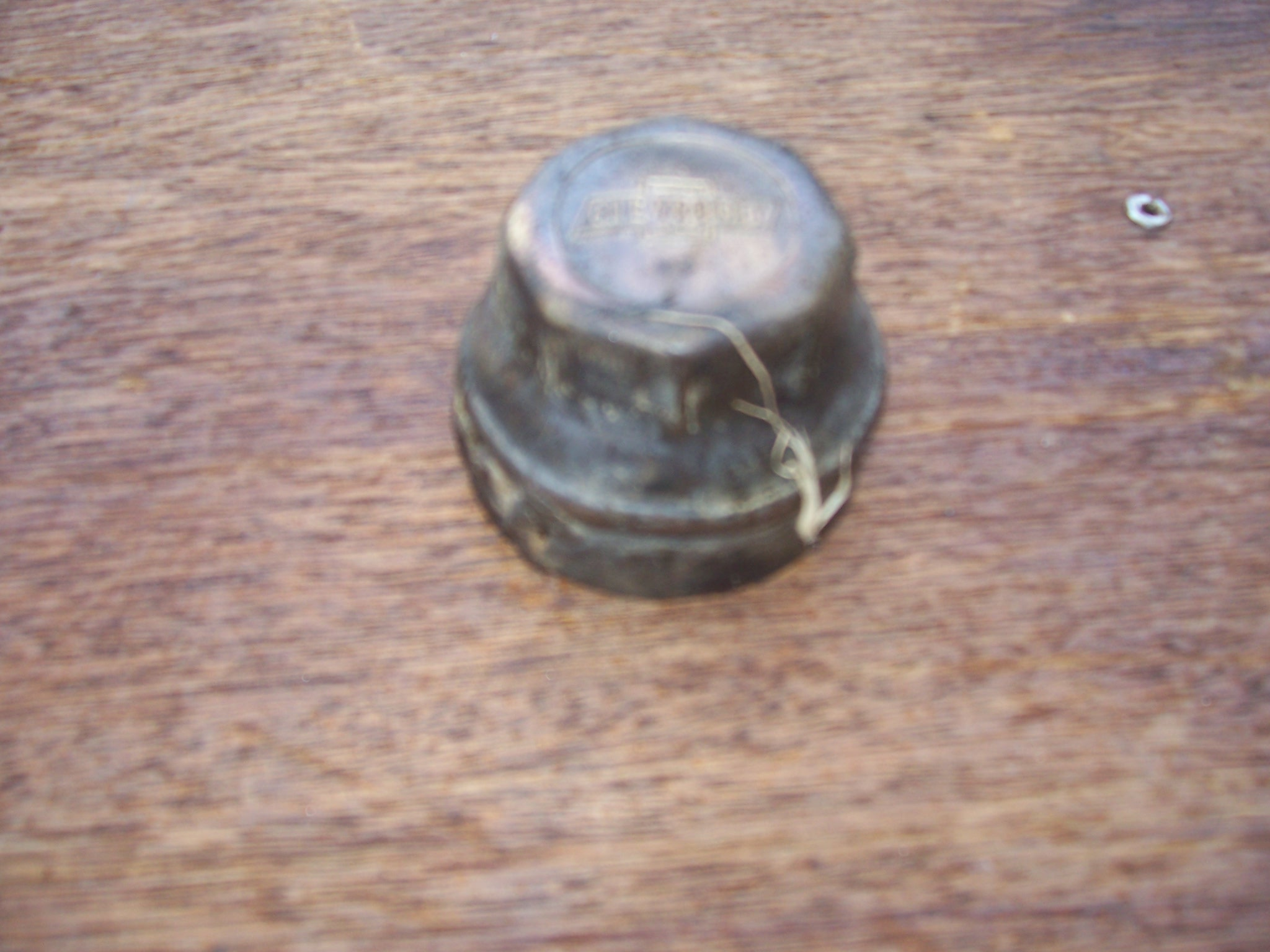 Old Chevy Wheel Grease Caps : Swapmeet vintage cheve car wheel grease cap brass